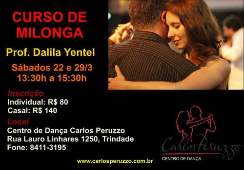 flyer workshop milonga