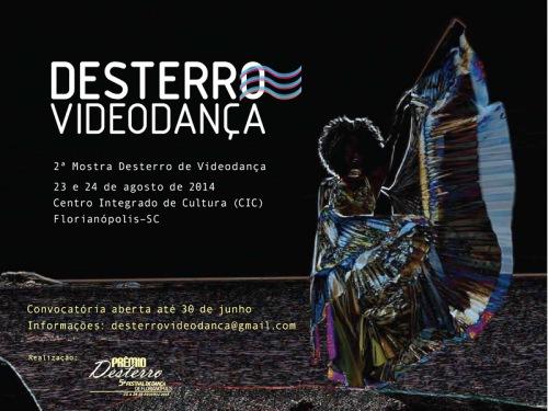 flyer Prêmio Desterro 2014 - inscrições Mostra Videodanca