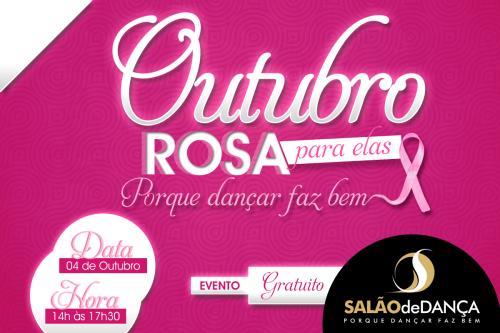 Evento outubro rosa salão de dança