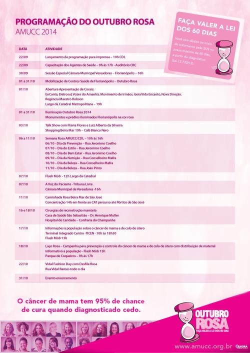Programação outubro rosa